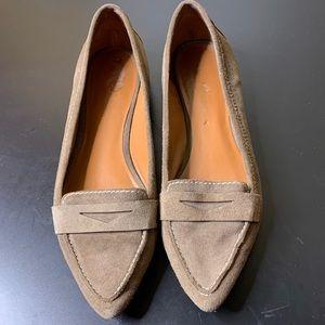 Franco Sarto suede penny loafers